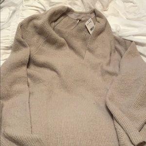 Free People Long Sweater Dress Grey SZ L
